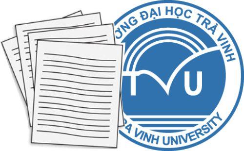 ĐH Trà Vinh - Lịch học và lịch thi môn Tư tưởng Hồ Chí Minh